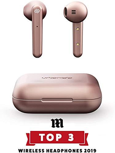 Urbanista Stockholm True Wireless Kopfhörer. 14H gesamt Akkulaufzeit. Bluetooth 5.0 inkl. Ladebox, Touch Bedienung und doppel Mikrofon Kopfhörer. Kompatibel mit iOS und Android - Roségold