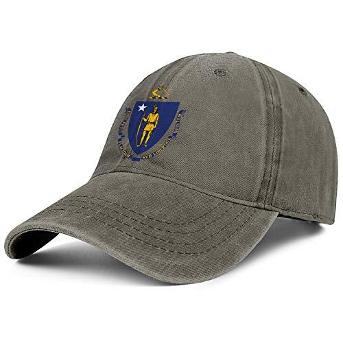 Unisex Flag of Massachusetts Cowboy Hats Fashion Adjustable Sun Caps