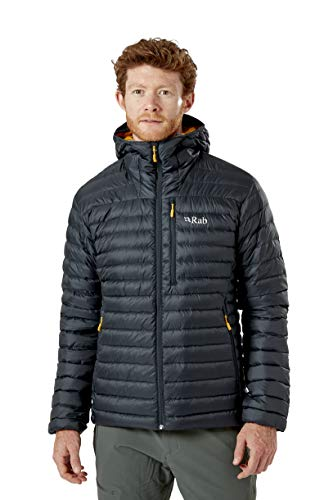 Rab Mens Microlight Alpine Jacket, Light Weight, Warm Winter Jacket, Windproof, Breathable, Packable