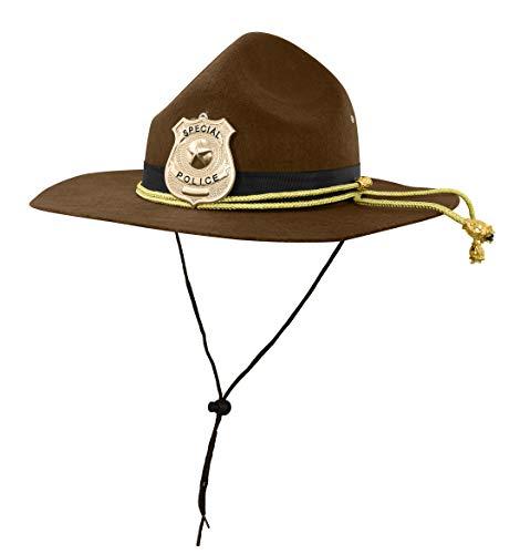 Nicky Bigs Novelties Super State Trooper Highway Patrol Kostüm Hut, Braun Gold, Einheitsgröße