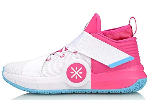 LI-NING All City 7 Wade Men Basketball Shoes Lining Professional Technology Sneakers Sports Shoes Pink White ABAP105-6H US 10.5