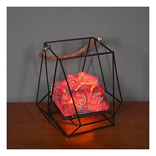 Sits Lámpara de Chimenea de decoración de Mesa de Pozo de Fuego Falso, batería de Navidad de Halloween, Hoguera eléctrica, antorcha de Llamas de Apoyo de carbón Falso Falso, Linterna de decoración