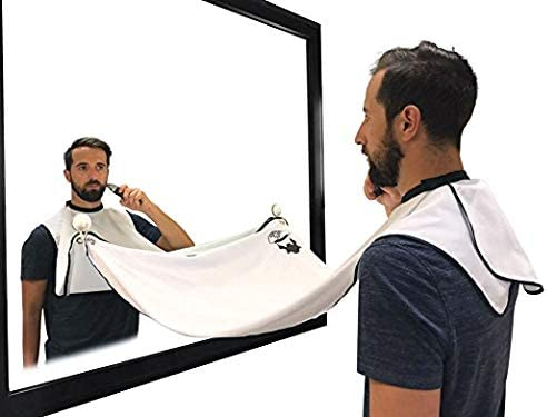 Beard Hair Catcher Beard Cape Apron for Shaving and Grooming with Suction Cups for Mirror By product image