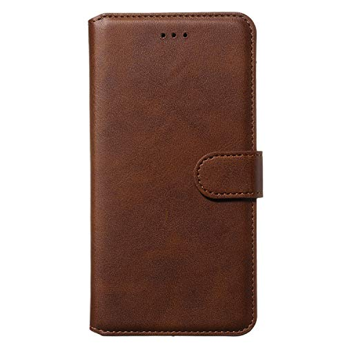 Lomogo Galaxy J1 2016 Hülle Leder, Schutzhülle Brieftasche mit Kartenfach Klappbar Magnetisch Stoßfest Handyhülle Case für Samsung Galaxy J1 2016/J120F - LOYYO080141 Braun