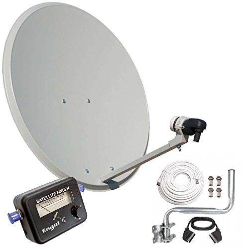 Engel AN0432E - Antena parabólica (80 cm, soporte pared, LNB, localizador...
