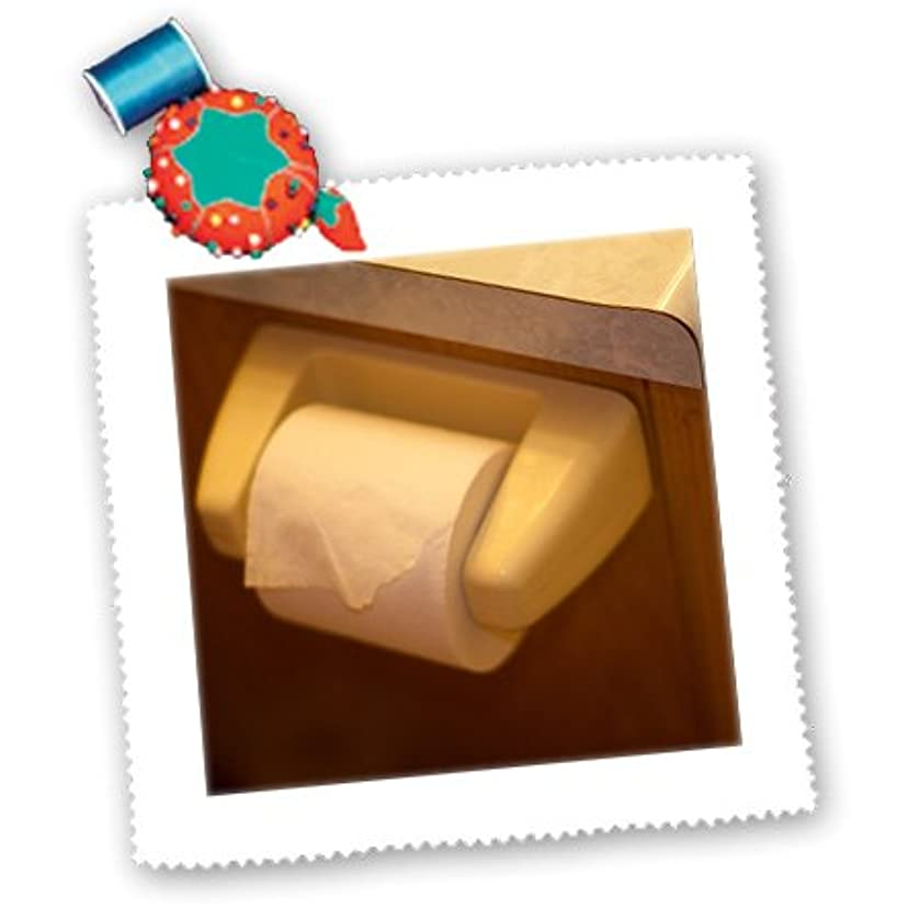 3dRose qs_64978_1 A Roll of Toilet Paper on The Hanger-Quilt Square, 10 by 10-Inch
