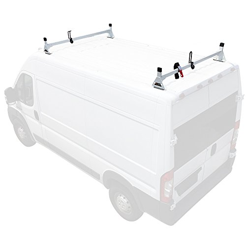 Steel H1 2 Bar Van Rack System for RAM ProMaster 2013-On White