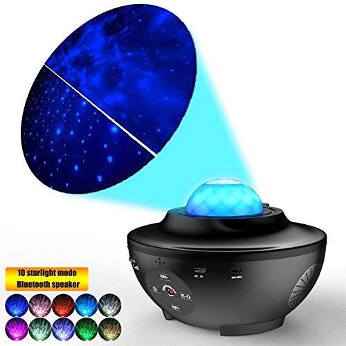 LED Light- Laser Star Projector w/LED Nebula Cloud for Game Room Decor, Bedroom Night Light, or Mood Lighting Ambiance - Colorful
