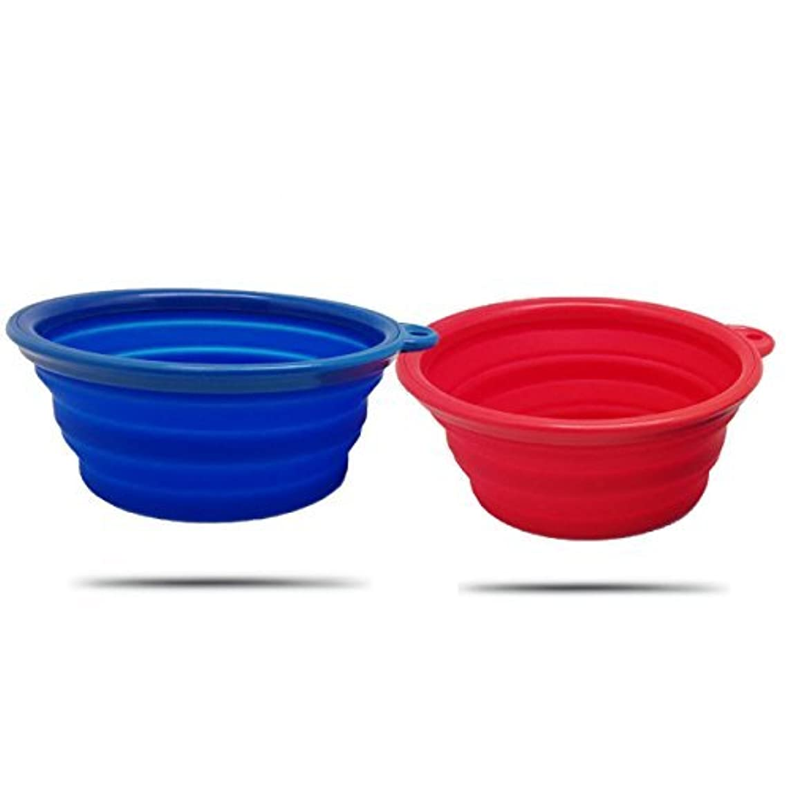 AZCAMP Collapsible Dog Bowls (2-Pack), for Camping and Travel/Outdoor Enthusiasts & Pet Lovers, Food-Grade Silicone, BPA-Free