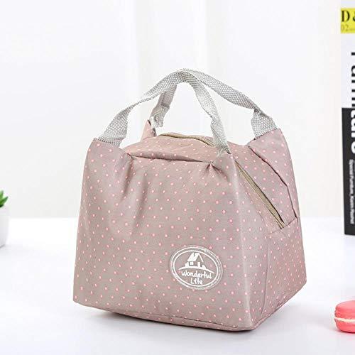 EMOHKCAB Draagbare lunchzak voor meisje Thermische geïsoleerde koeltas Lunch Drinkbox Leuke picknick draagtas, E