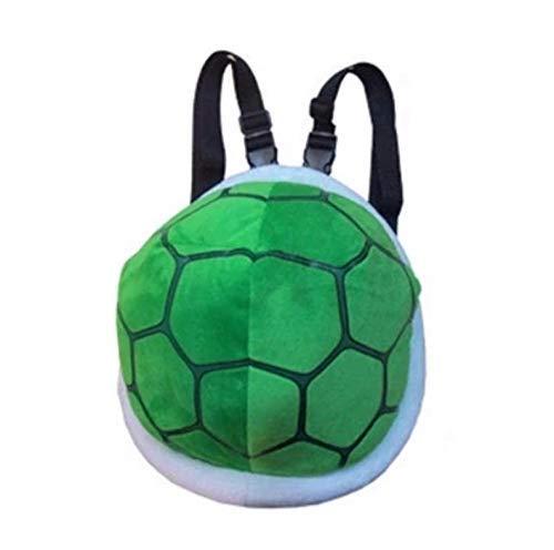 GHJU Super Mario Pack-Schildkröte-Plüsch-Spielzeug-Rucksack Geldbeutel-Handtaschen-Rucksack der Kinder Geburtstagsgeschenke for Kinder 30Cm Qingqiao