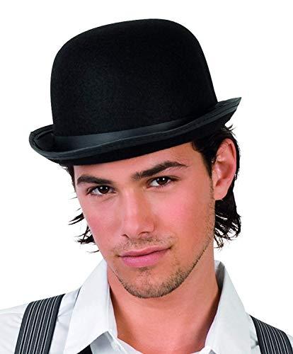 Boland 04002 - Hut Für Erwachsene Antoine, Melonenhut, Schwarz, Gangster, 20er Jahre, Kopfbedeckung, Accessoire, Motto Party Karneval