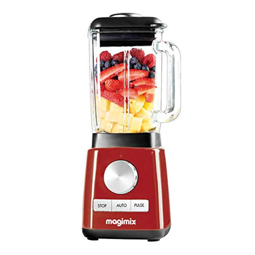 Magimix 11629 Power Blender with Quiet Mark Approval, Metal/Glass, 1.3 W, 1.8 liters, Red