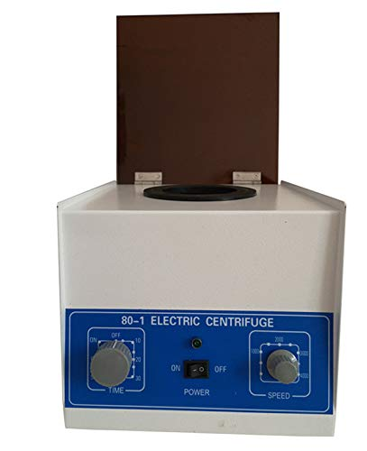 Soiiw Electric Lab Benchtop Centrifuge,Low-Speed 4000rpm Speed Control Centrifuge Machine 6 Tubes x 20ml with Timer 0-60min