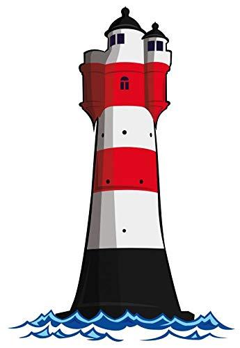 Samunshi® Aufkleber Leuchtturm 'Roter Sand' Deutsche Bucht Leuchtfeuer in 3 Größen (6,7x10cm)