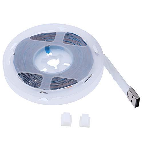 Tira de luz LED, Diferentes Modos de iluminación Tira de luz RGB fácil de Instalar para decoración del hogar Luces de Fondo de TV(5M 90LED)