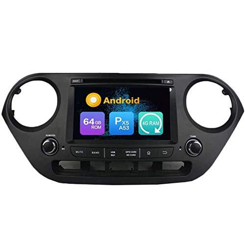 WHL.HH Androide 10 Auto Radio GPS Navegación Cabeza Unidad para I10 2014-2015, IPS HD Tocar Pantalla Multimedia Jugador Navegación por satélite SWC Bluetooth DVD Video Receptor