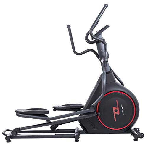TechFit FW700 Elliptical Cross Trainer, Exercise Fitness Bike with 12 KG Front Wheel, 8 levels of Intensity, Ideal for Toning, Weightloss and Workout
