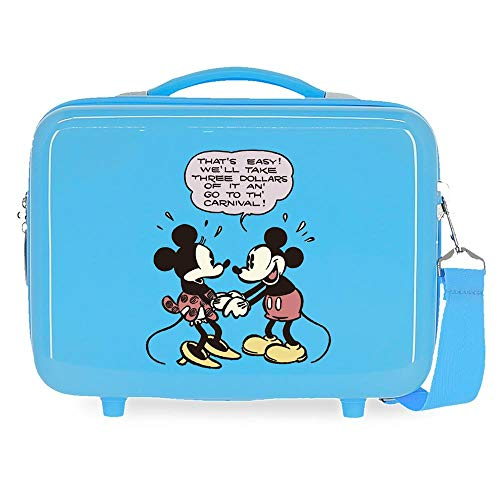 Disney Mickey That´S Easy Neceser Adaptable Azul 29x21x15 cms Rígida ABS 9,14L