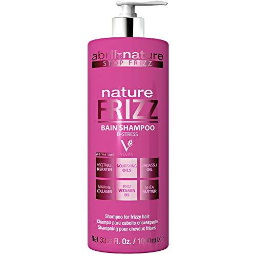 abril et nature | Champú Anti Frizz NATURE FRIZZ | Champú Profesional Peluquería Unisex Antiencrespamiento | 100% Vegano | Nutrición, brillo y fácil peinado 1L