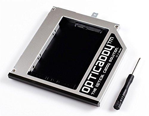 Opticaddy© SATA-3 HDD/SSD Caddy für Lenovo Thinkpad T440p, T540p, T540, W540, W541, W540p OptiSpeed Technologie - ersetzt optisches Laufwerk (original Festplattenrahmen, Einbaurahmen, Adapter)