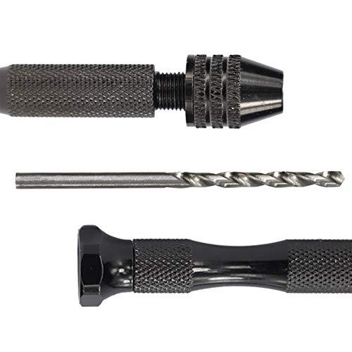 Wnuanjun Mini Taladro de Mano de Micro Aluminio con Chuck sin Llave HSS Twist bit bit Drilling Herramientas rotativas Manual de Taladro (tamaño : 13pcs 0.6 3.0mm)