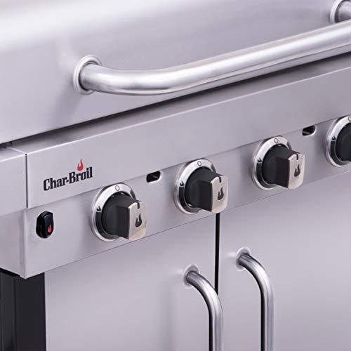 Char-Broil New Performance Series 440S - Griglia Barbecue a Gas con 4 Fuochi con Tecnologia TRU-Infrared, Finitura Acciaio Inox