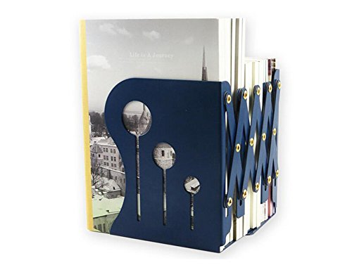 Demarkt–dehnbare sujetalibros libros libros color Soporte Soporte Biblioteca Escuela Oficina Casa metal azul oscuro L small Dunkelblau S