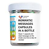 Message in a Bottle   Romantic for Boyfriend or Girlfriend (50PCS)   Pre-Written Love Capsules Letters in Plastic Jar   Perfect for Anniversary, Valentines, and Long Distance Relationships
