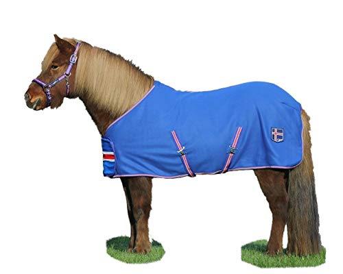 netproshop Hochwertige Isländer Fleece Abschwitzdecke in den Islandfarben Gr.125 Pony, Groesse:125, Farbe:Blau
