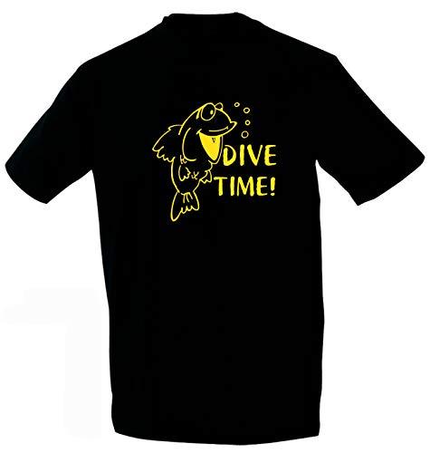 Kreativ-Shop! Taucher-T-Shirt Happy Dive-Time   Frontdruck   Größen: 3XL   Folienfarbe: gelb
