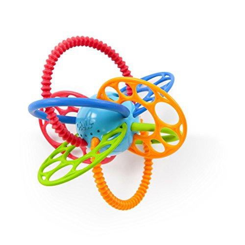 Bright Starts, Oball Flexi Loops Greifspielzeug mit Beißringen aus flexiblem, leicht zu greifendem Material mit unterschiedlichen Texturen