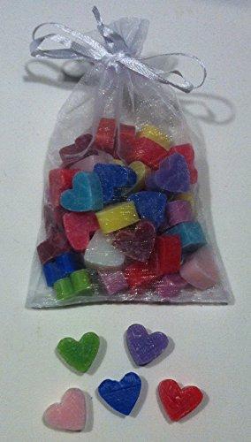 Florex Schafmilchseife Lot de 100 mini mini cœurs mélangés à savon pour dragées