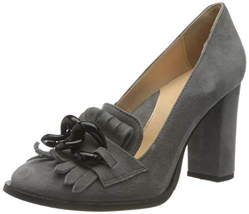 SELECTED FEMME Damen SLFMEL New Suede Pump B Pumps, Grey, 38 EU