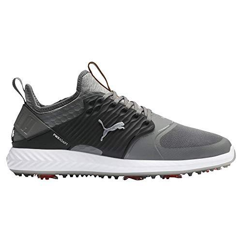 Puma Golf Men's Ignite Pwradapt Caged Golf Shoe, Quiet Shade-Bronze-Puma Black, 14 M US