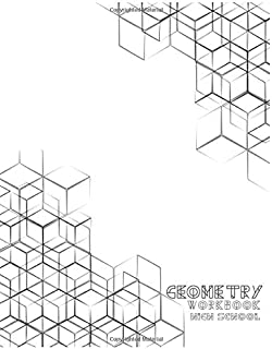 Geometry Workbook High School: Graph Paper Composition Workbook Quad Ruled 5x5, Grid Paper for Math & Science Students