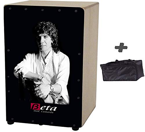 Cajón flamenco 'Beta' (by Martinez) mod Camarón + FUNDA - Caja rumbera personalizada AFINABLE