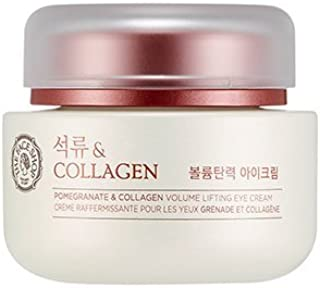 [THEFACESHOP] Pomegranate and Collagen Volume Lifting Eye Cream, Contains Adenosine with a Soothing and Skin Restoring Effect - 50 ml