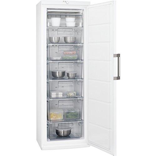 AEG AGB62721AW Gefrierschrank / freistehender Tiefkühlschrank mit Gefrierschubladen und -klappe / 245 Liter Gefrierfach mit Temperaturalarm / Höhe: 185 cm / 216 kWh pro Jahr