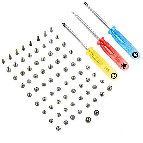 MMOBIEL Komplettes Schrauben Set kompatibel mit iPhone 7 mit je 2X Pentalobe Schraubeund Schraubenzieher