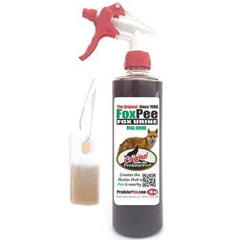 PredatorPee Original Fox Urine -Territorial Marking Scent-16oz Spray Bottle Combo with ScentTags