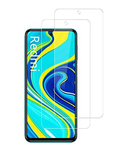 UNO' Protector pantalla cristal templado 2 Unidades compatible con Redmi Note 9S...