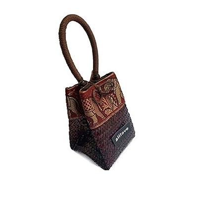 handwoven straw bag cute rattan handbag summer beach purse