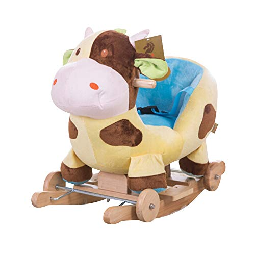 Buy Discount Baby Rocking Horse Kids Ride On Rocking Horse Stuffed Animal Horse Toddler Game Rocker ...