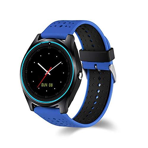 YZY pols-hartslagmeter, stappenteller, activiteitstracker, hartslagmeter, smartwatch met bluetooth-oproep- en stappenteller, Blauw Zwart