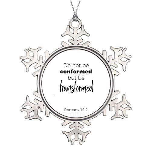 Promini - Figura decorativa para árbol de Navidad, diseño de copos de nieve de metal de aluminio de 3 pulgadas