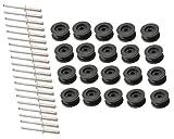 20 Stück - Rundknopf für 6-8 mm Expanderseil + 20 Alunieten