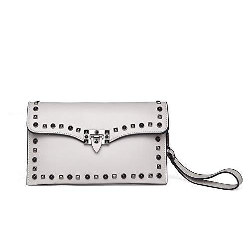 Womens Crossbody portemonnee gestikte Women'S Bag een schouder schuine kleine vierkante tas mode zwart klinknagel Women'S Bag