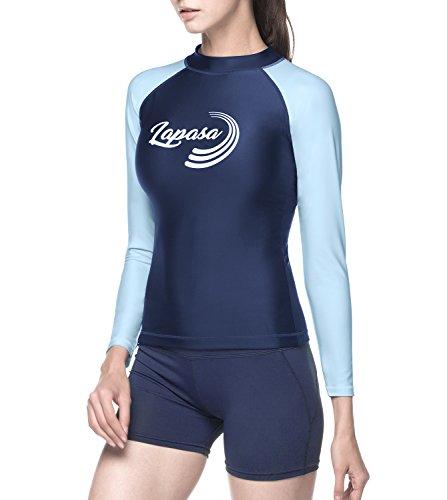 LAPASA Damen UV Shirt Rash Guard Langarm Sonnenschutz UPF 50+ Basic Skins MEHRWEG L27