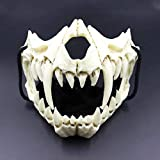 Japanese Tiger Mask, Resin Skull Scary Horror Ninja Mask Halloween Cosplay Costume Props Prom